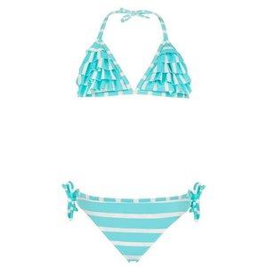 Snapper Rock Aqua Stripe Waterfall Bikini