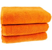 Strandlaken oranje 100x200 cm