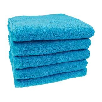 Handdoek Aqua blauw 50x100 cm