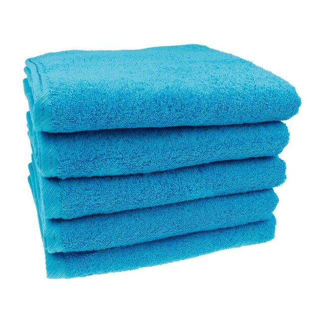 Handdoek Aqua blauw 50x100
