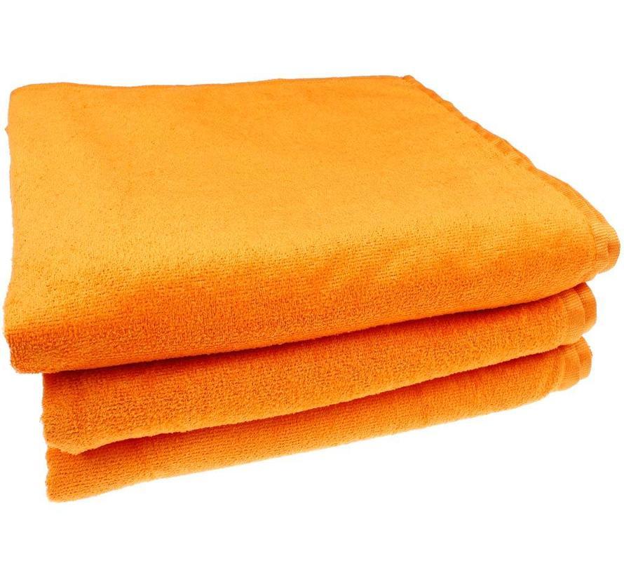 Oranje microvezel strandlaken xxl