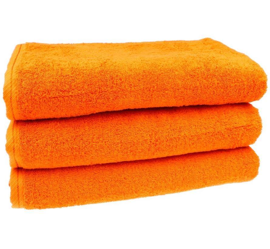 Douchelaken Oranje 70x140