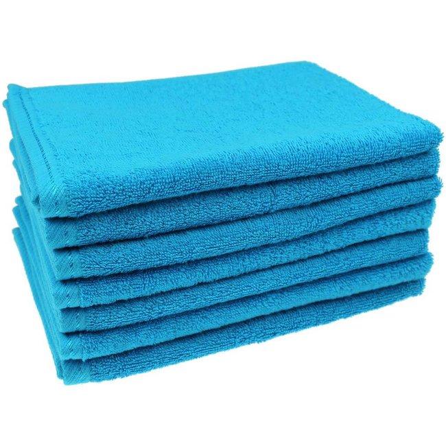 Gastendoekje Aqua blauw 40x50 cm