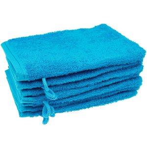 Washandje Aqua blauw 17x24