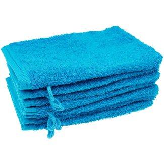 Washandje Aqua blauw