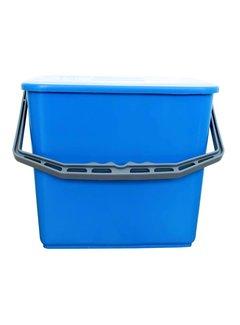 Emmer met deksel 6 liter blauw