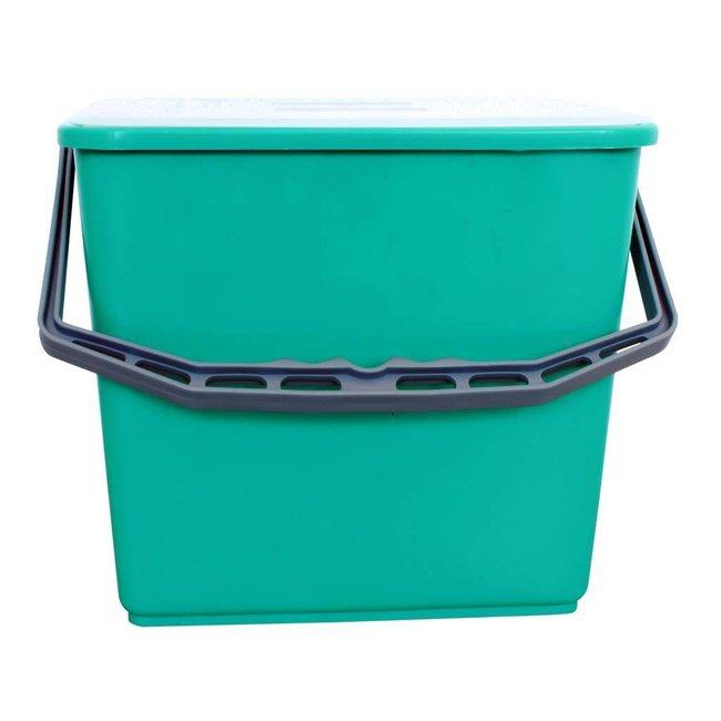 Emmer met deksel 6 liter groen