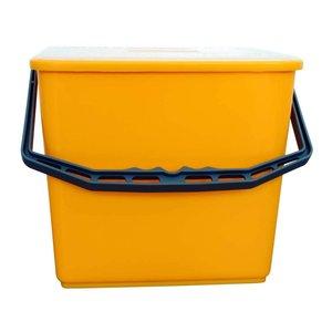 Emmer met deksel 6 liter geel