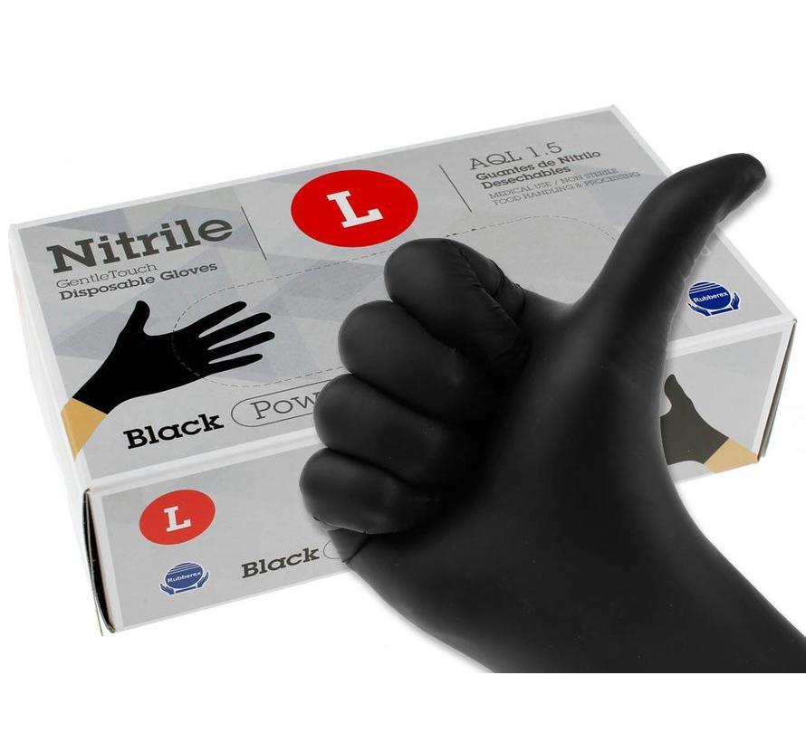Nitril handschoenen zwart L