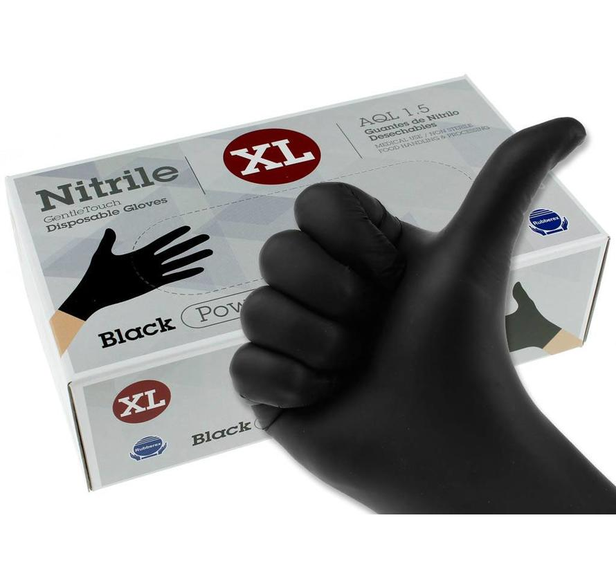 Nitril handschoenen zwart XL