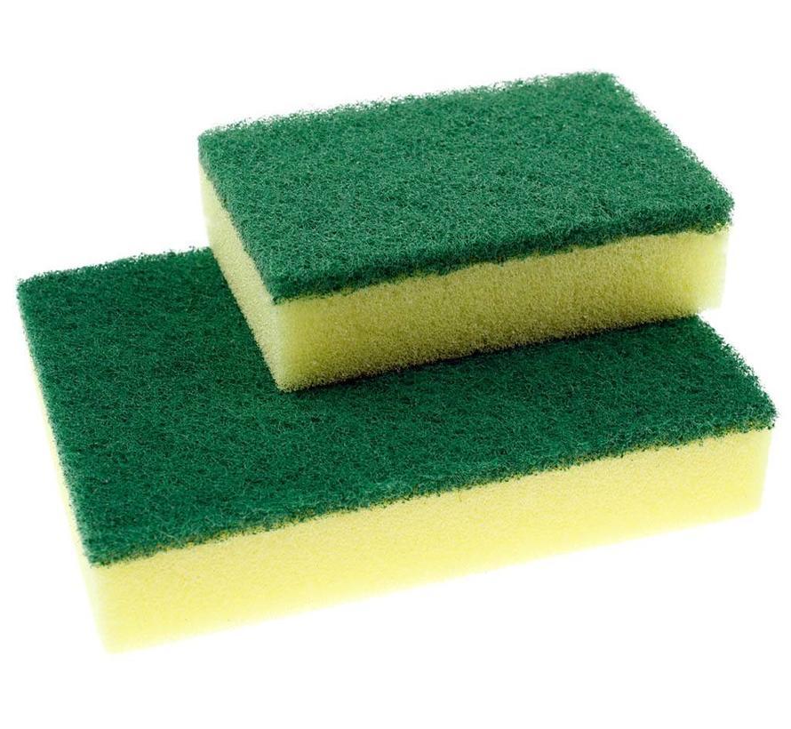 10-pak Schuurspons groot geel/groen