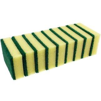 10-pak Schuurspons klein geel/groen
