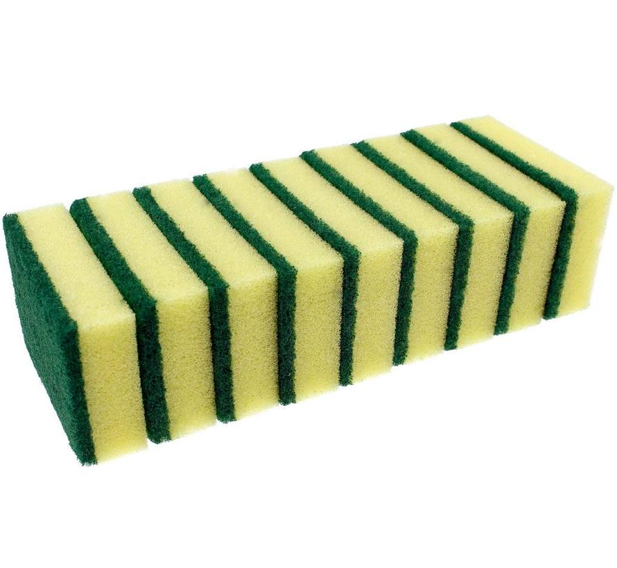 Schuurspons klein geel/groen