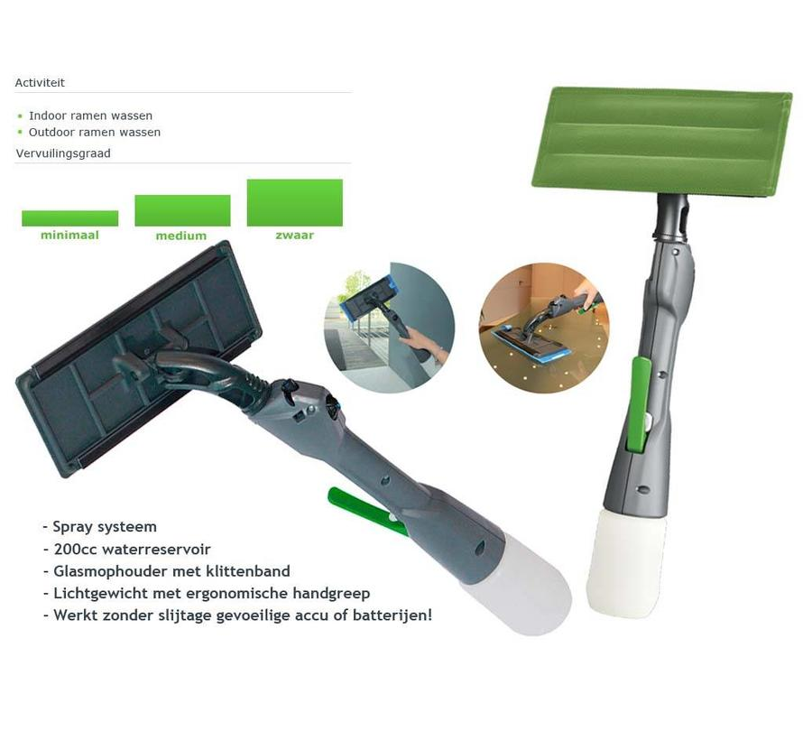 Ruitenreiniger Cleano 30 met spraysysteem