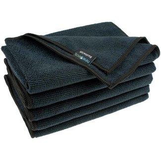 Microvezeldoeken soft zwart 10-pak