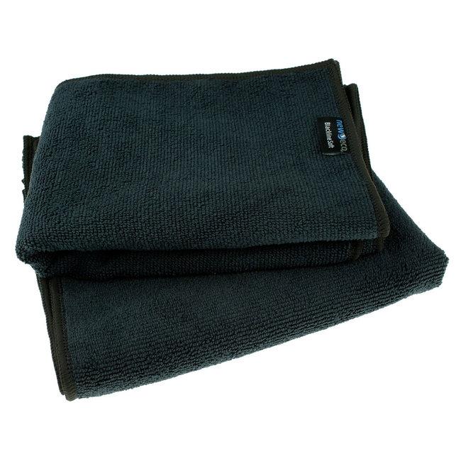 Microvezeldoek zwart soft large