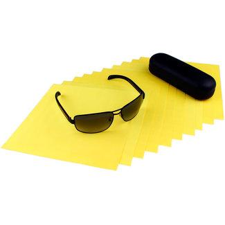 Opticien brillendoekjes geel