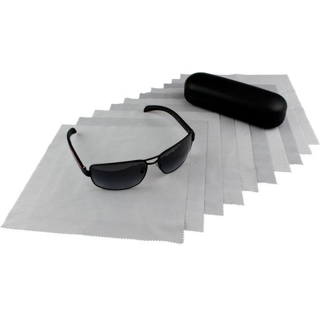 10-pak opticien brillendoekjes grijs