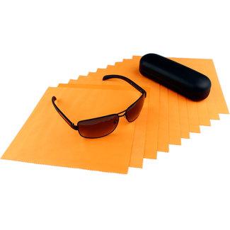 Opticien brillendoekjes oranje