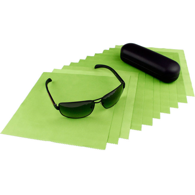 10-pak opticien brillendoekjes lichtgroen