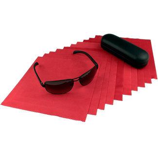 Opticien brillendoekjes rood