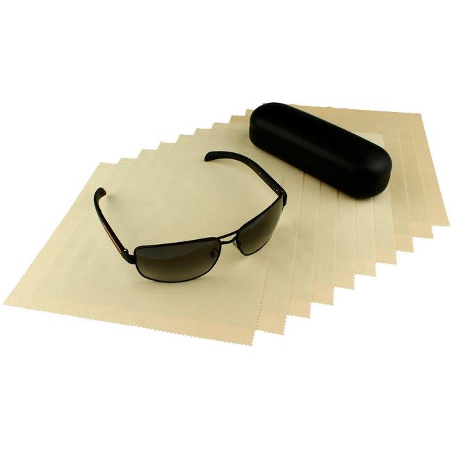 10-pak opticien brillendoekjes beige