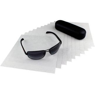 Opticien brillendoekjes lichtgrijs