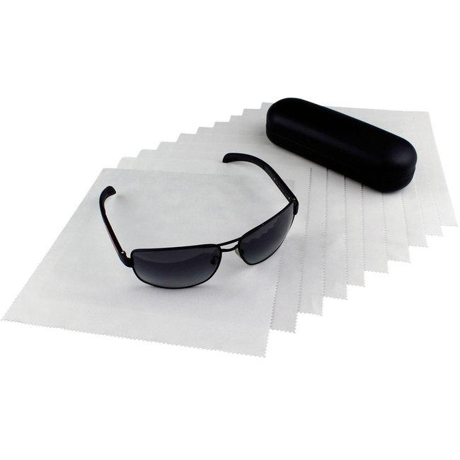 10-pak opticien brillendoekjes lichtgrijs