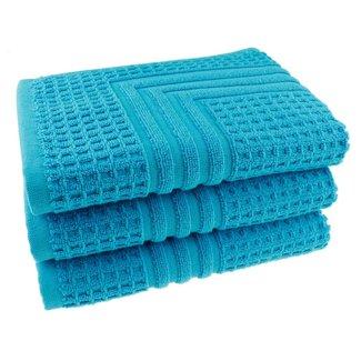 Hotel badmat aqua blauw 50x70 cm