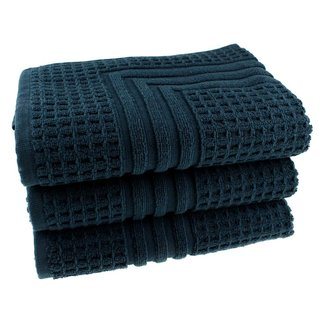 Hotel badmat donkerblauw 50x70 cm