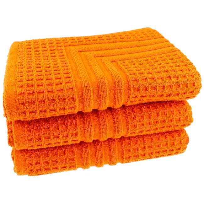 Hotel badmat oranje 50x70 cm