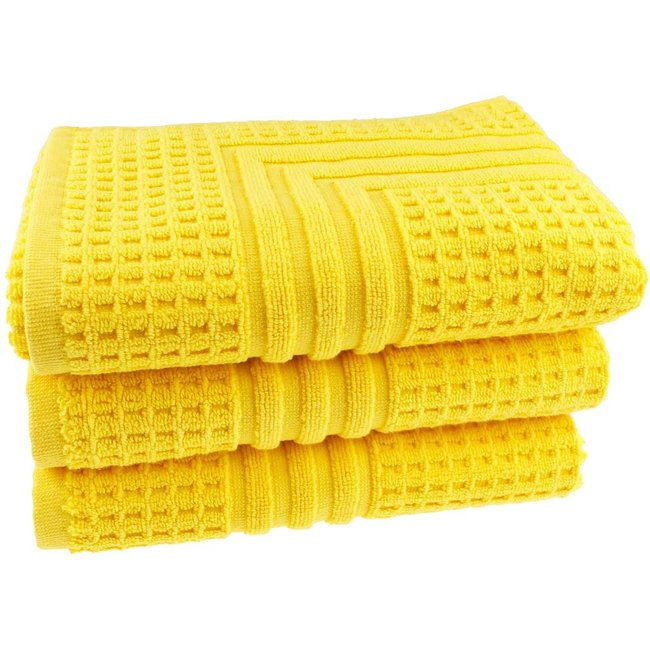 Hotel badmat geel 50x70 cm
