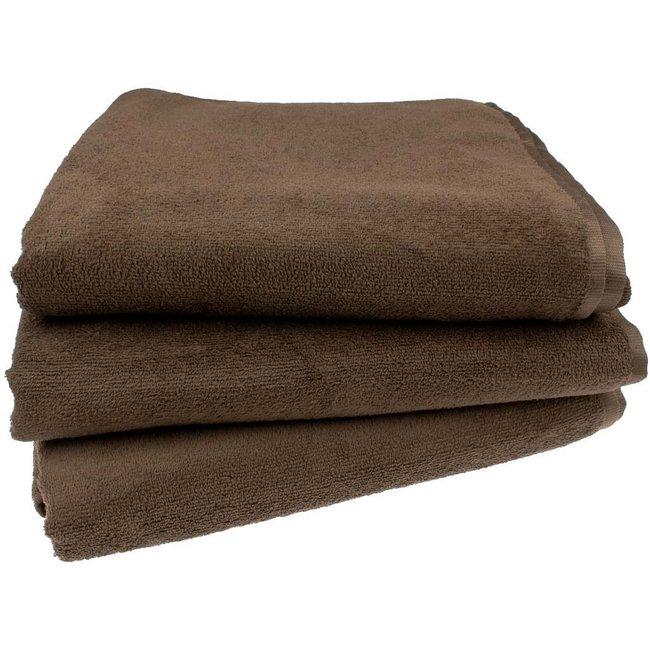 Massage handdoek 100x220cm chocoladebruin