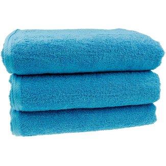 Badhanddoek Aqua blauw 100x150cm