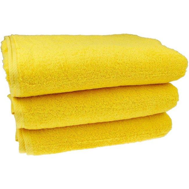 Badhanddoek geel 100x150cm