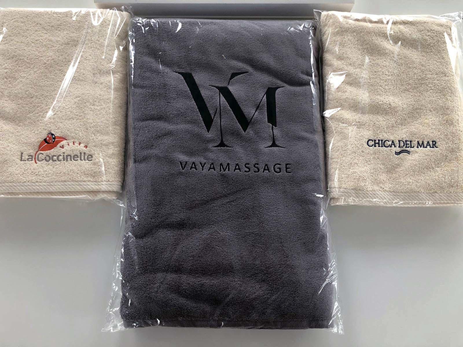 katoenen handdoek borduren met logo