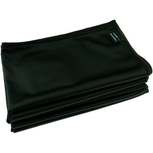 Microvezel glasdoek Brilliant zwart 50x70 cm