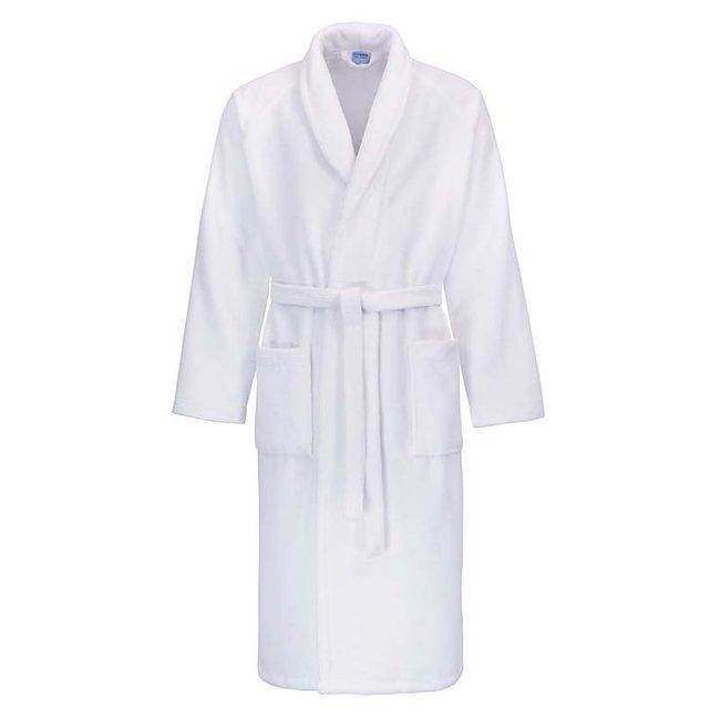 Hotel badjas wit met sjaalkraag