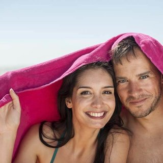 2 persoons strandlakens 160x220 cm van sneldrogende microvezel