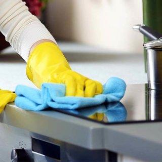 Microvezeldoeken voor eenhygiënisch schone keuken