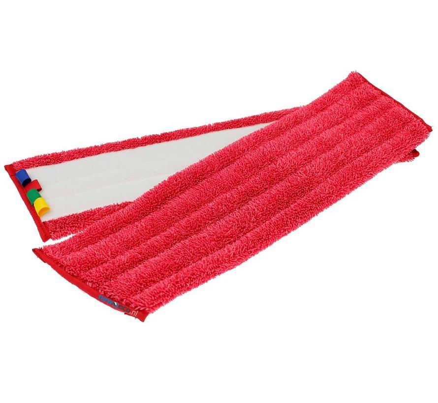 Microvezel velcro damp mop rood 45/50cm