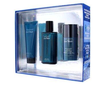 Davidoff Giftset Cool Water Men EDT 75ml + SHOWER GEL 75ml + Deodorant Stick 75ml Toilette