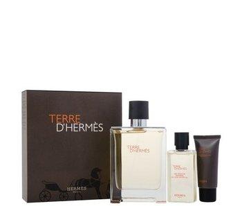 Hermes Giftset Terre D'Hermes EDT 100ml + SHOWER GEL 40ml + Aftershave Balm 15ml Toilette