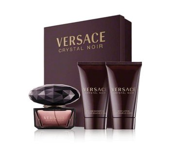 Versace Giftset Crystal Noir EDT 50ml + BODY LOTION 50ml + SHOWER GEL 50ml Toilette