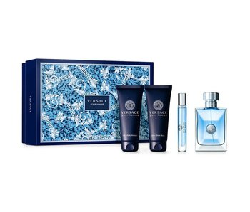 Versace Giftset Pour Homme EDT 100ml + Aftershave Balm 100ml + HAIR & BODY SHAMPOO 100ml + EDT 10ml Toilette
