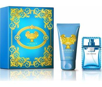 Versace Man Eau Fraiche Gift Set 30 ml and for body and hair Man Eau Fraiche 50 ml