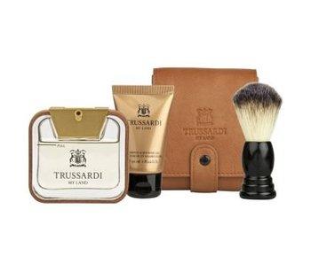 Trussardi Parfums My Land Gift Set 50 ml, My Land Balm 30ml and shaving brush