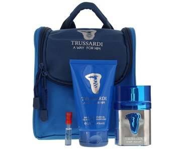 Trussardi Parfums A Way for Him Gift Set 50 ml, A Way for Him 100 ml and cosmetic bag