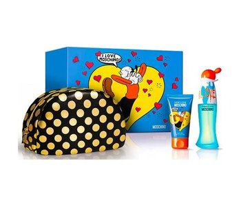 Moschino I Love Love Gift Set 50 ml, I Love Love 50 ml and cosmetic bag