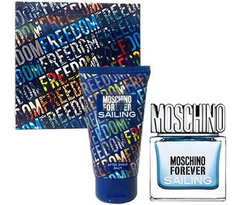 Moschino Forever for Men Sailing Gift Set 30 ml and balm Forever for Men Sailing 50 ml